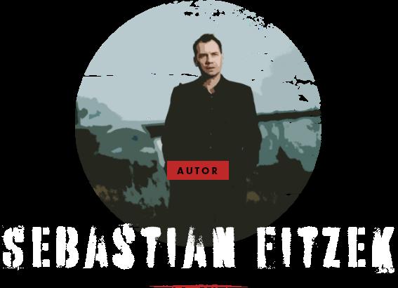 Foto von Sebastian Fitzek mit Namen, Schmuckelementen und auf transparentem Hintergrund.
