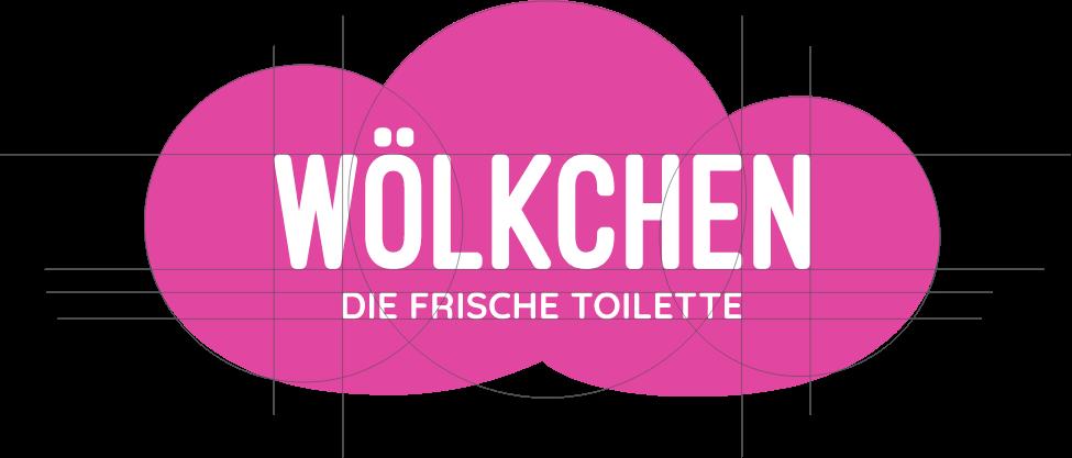 Wölkchen Referenz-Material: Zu sehen ist die Entwicklung des Wölkchen-Logos.