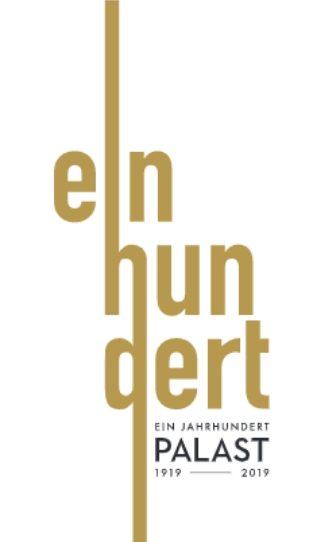 Das Logo des Friedrich-Stadt-Palast in goldener Farbe.